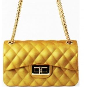 Handbags - 👑 GOLD QUILTED Jelly Crossbody/Shoulder Bag NWT🏷